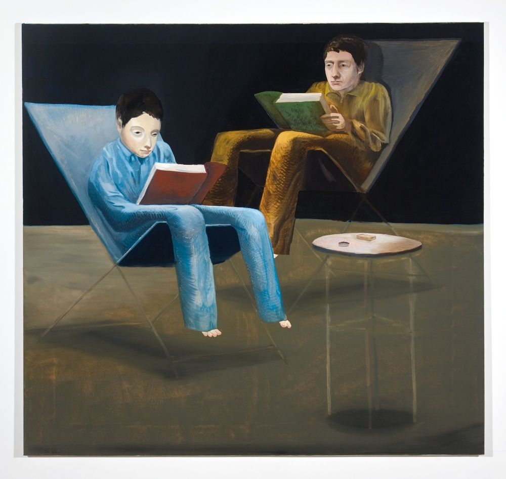 "Jesse Chapman The Principles of Psychology 2008 OIl on linen 39 1/2"" x 42"" JC014"