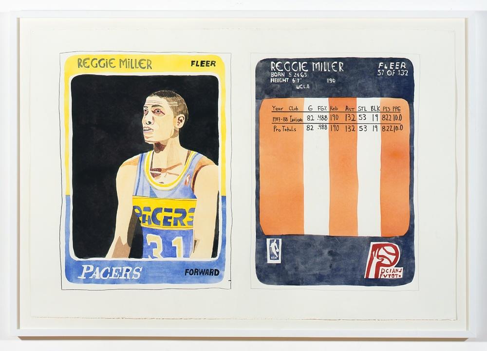 "Jonas Wood Reggie 2007 Gouache on paper 40 ½"" x 60"" JW001"