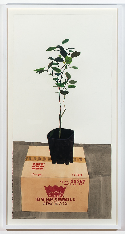 """Jonas Wood Meiko's Plant 2007 Gouache on paper 58"""" x 28"""" JW009"""
