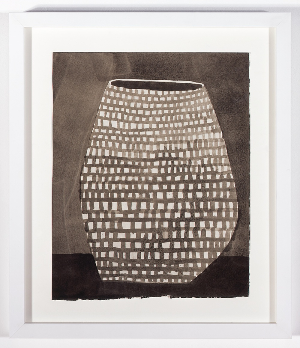 "Jonas Wood Pot 6 2007 Ink on paper 16"" x 13"" JW003"