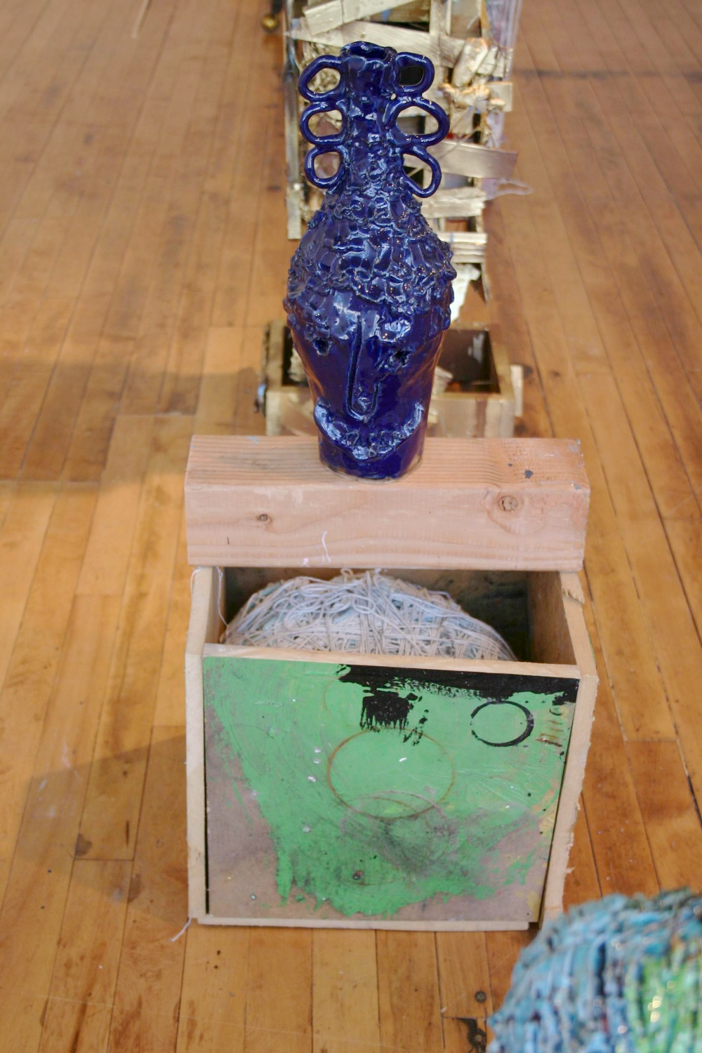 William J. O'Brien  the axis mundi 2007 Shane Campbell Gallery, Chicago Installation View