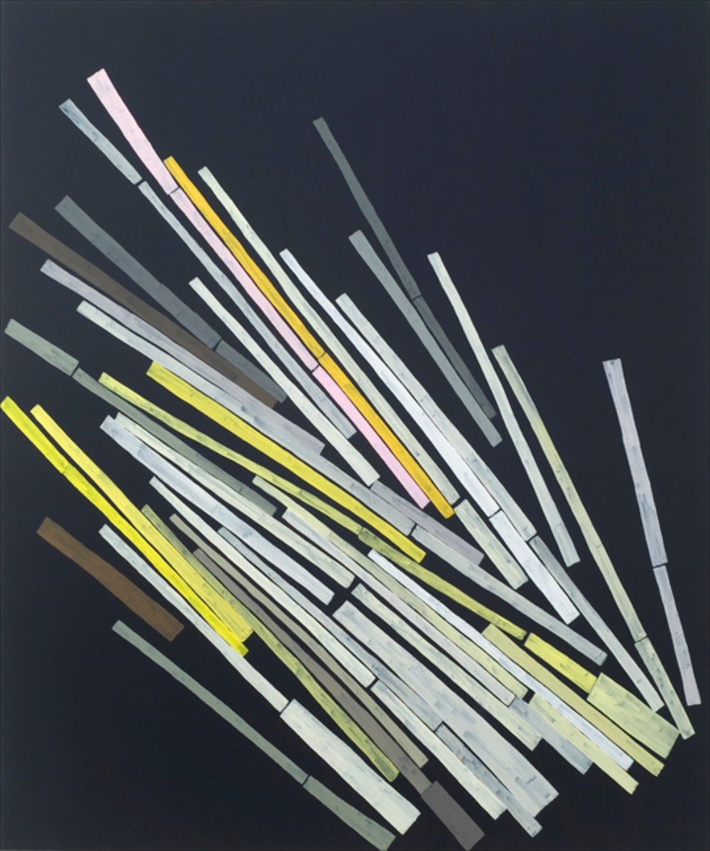 "Carrie Gundersdorf Star Trails-58 minutes 2007 Oil on canvas 60"" x 50"" CG001"