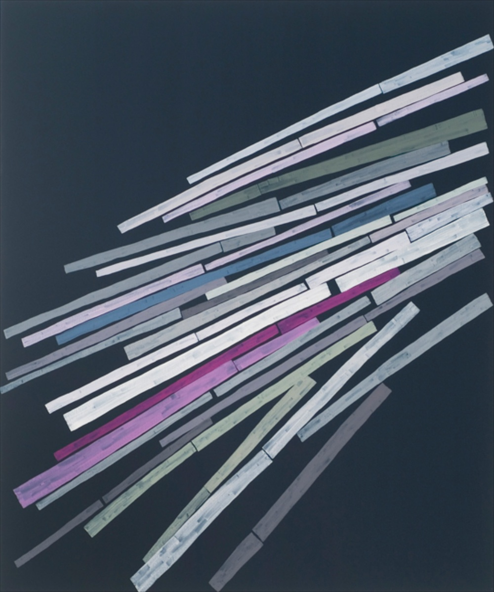 "Carrie Gundersdorf Star Trails-52 minutes 2007 Oil on canvas 60"" x 50"" CG004"