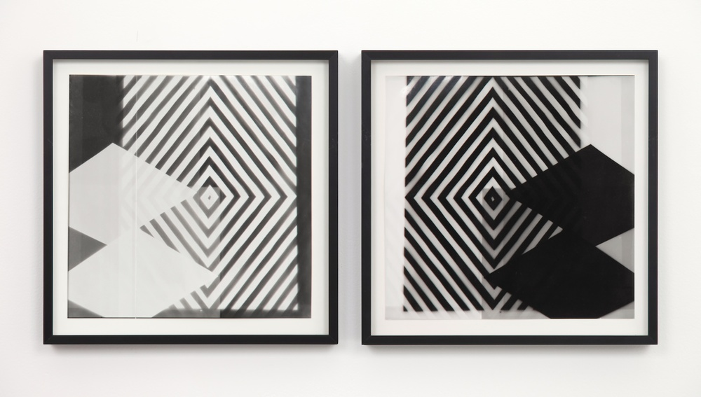 "Nathan Hylden Untitled 2006 Photogram 13"" x 13"" each, diptych NH001"