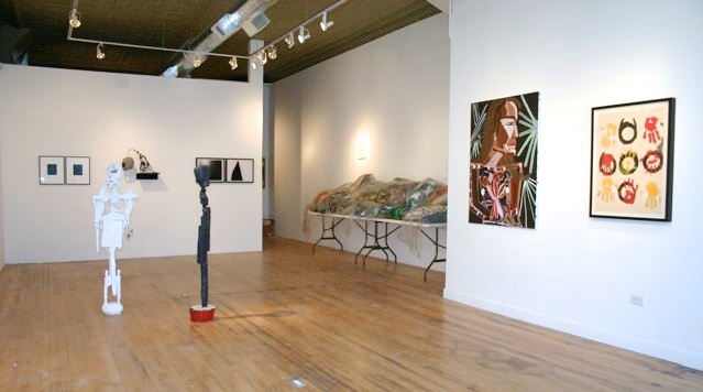 Katherine Bernhardt, Mark Grotjahn, Guyton/Walker, Jay Heikes, Evan Holloway, Chris Lipomi, William J. O'Brien, Anthony Pearson, Chris Vasell Modern Primitivism 2006 Shane Campbell Gallery, Chicago Installation View