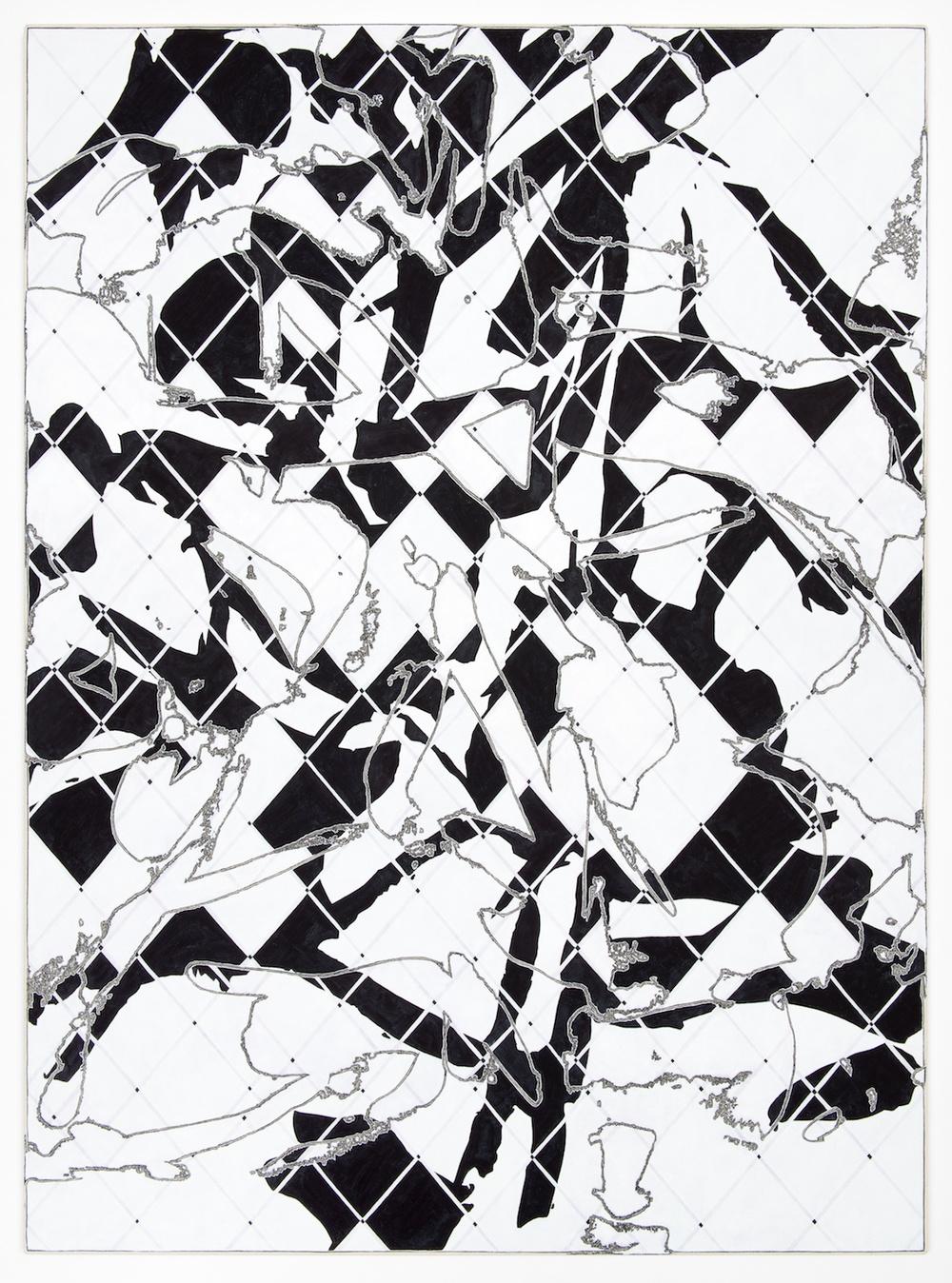 """Zak Prekop Two Grids  2013 Oil on canvas 57 1/4"""" x 42 1/4"""" ZP268"""