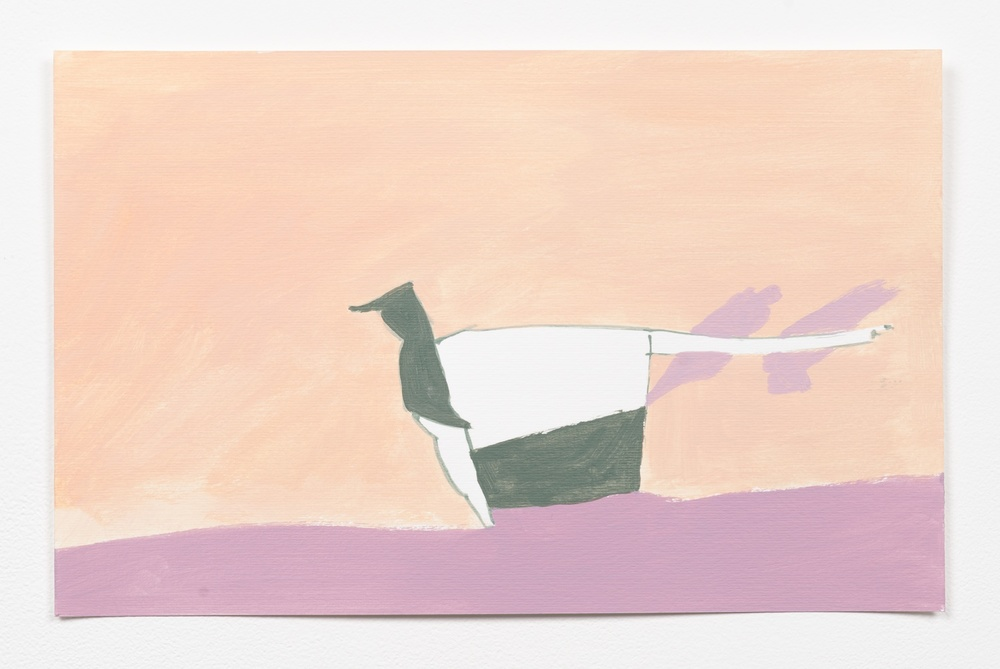 "Andrew Kerr Bow One 2014 Acrylic On Paper 9 1/4"" x 14 1/2"" AKerr010"