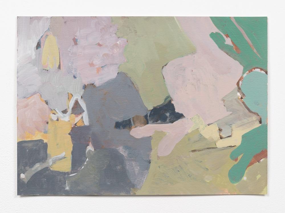 Andrew Kerr  Lantern  2014 Acrylic On Paper 9 ¾h x 13 ¾w in Kerr013