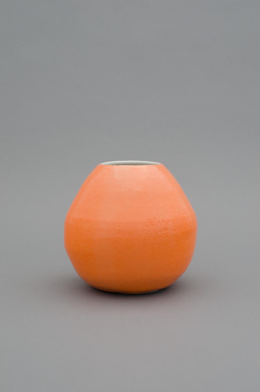 """Shio Kusaka Untitled (orange 4) 2012 Porcelain 6"""" x 6"""" x 6"""" SK382"""