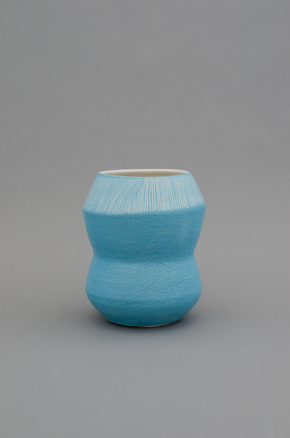 Shio Kusaka  Untitled (stripe 80)  2012 Porcelain 7h x 5 ¾w x 5 ¾d in SK378