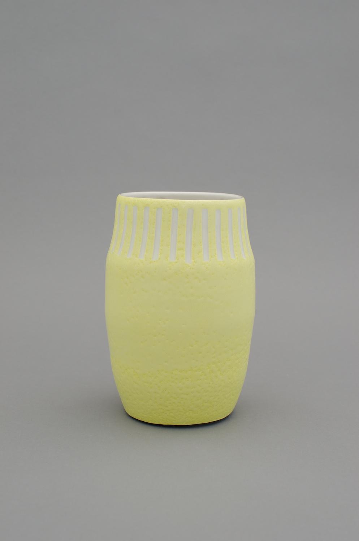 Shio Kusaka  Untitled (mark 21)  2012 Porcelain 7 1/4h x 4 3/4w x 4 3/4d in  SK385