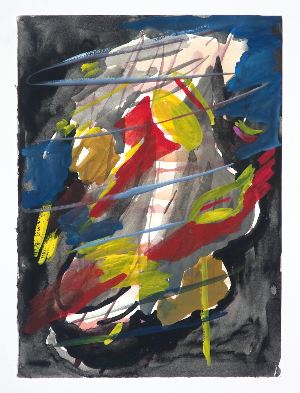 "Jon Pestoni Untitled 2009 Gouache on paper 18 1/4"" x 14 1/2"" JP080"