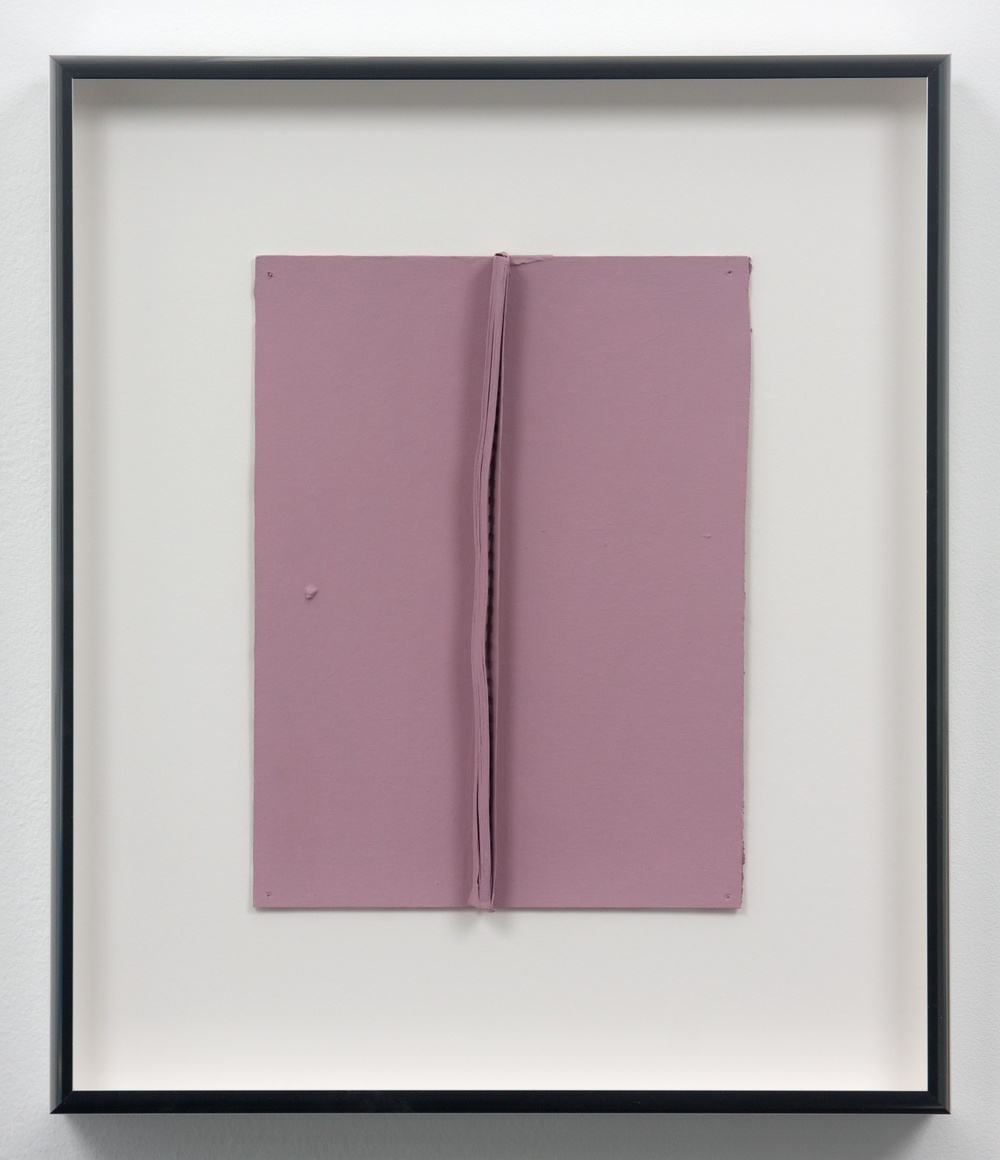 "Lisa WIlliamson Untitled (Pink) 2010 Acrylic and enamel on paper 12"" x 9"" x 1"" W065"