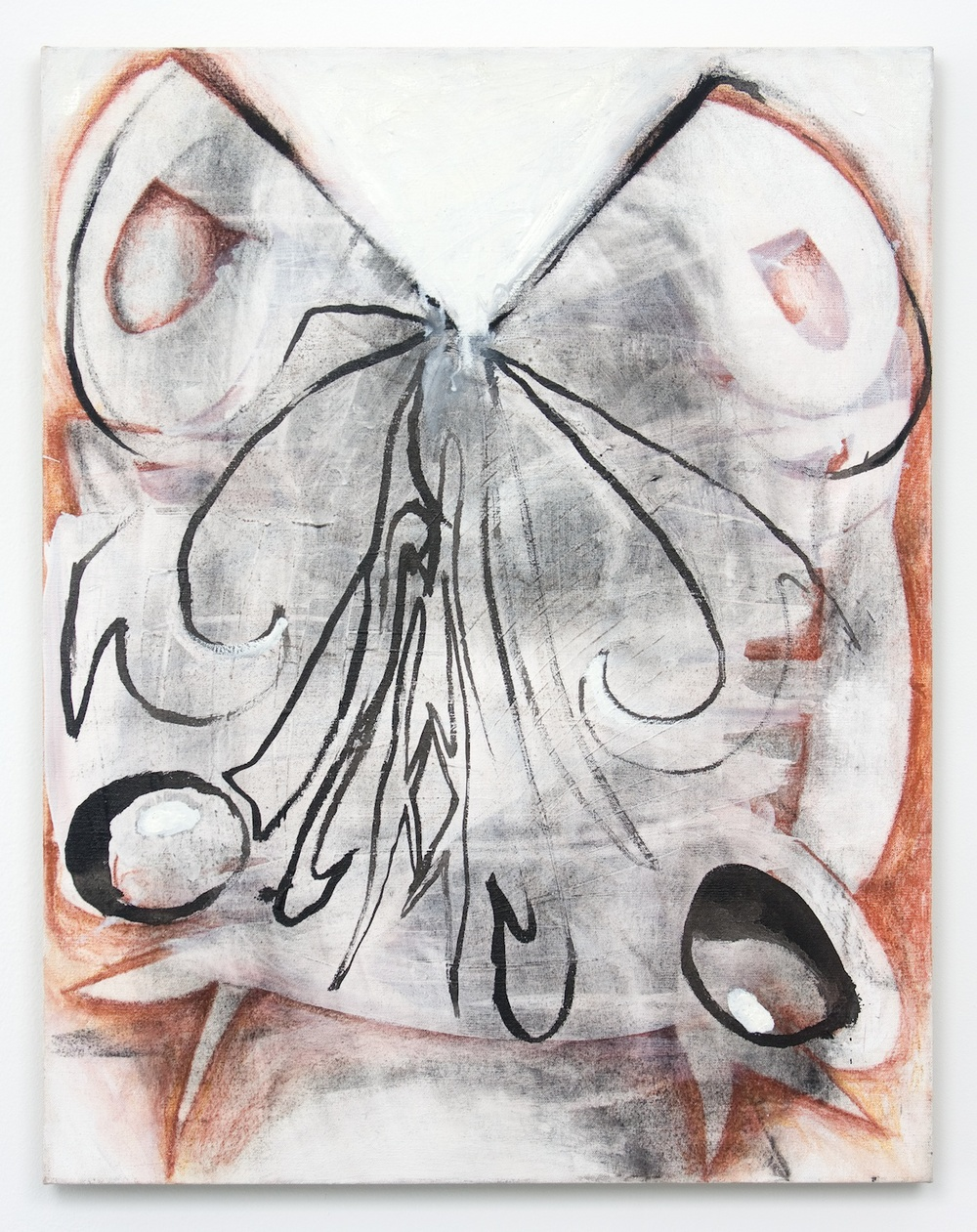 Suzanne McClelland  Prick  2010 Acrylic, charcoal, and oil on linen 28h x 22w in SM020