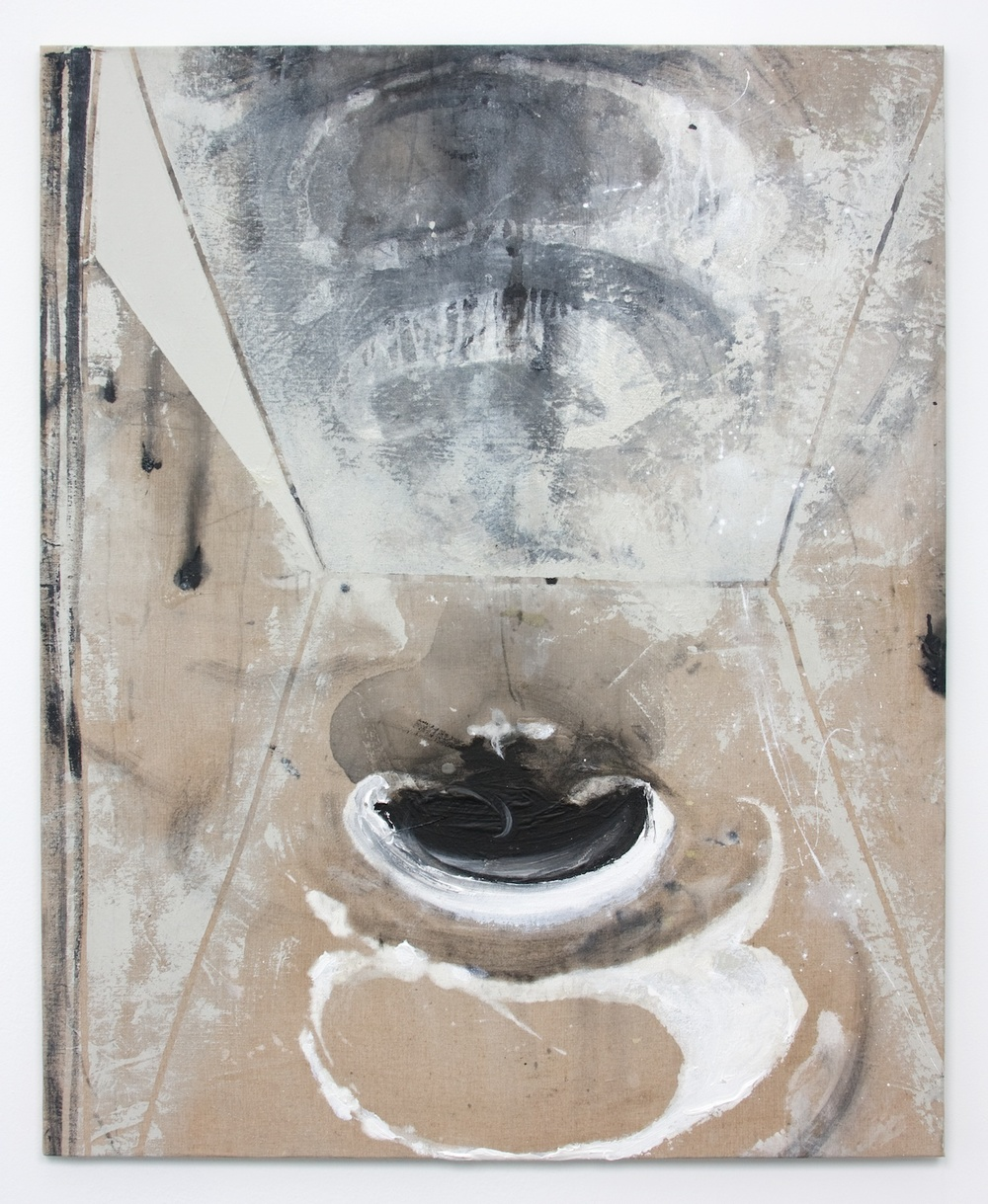 Suzanne McClelland  Act  2010 Acrylic and charcoal on linen 39 ½h x 32w in SM111