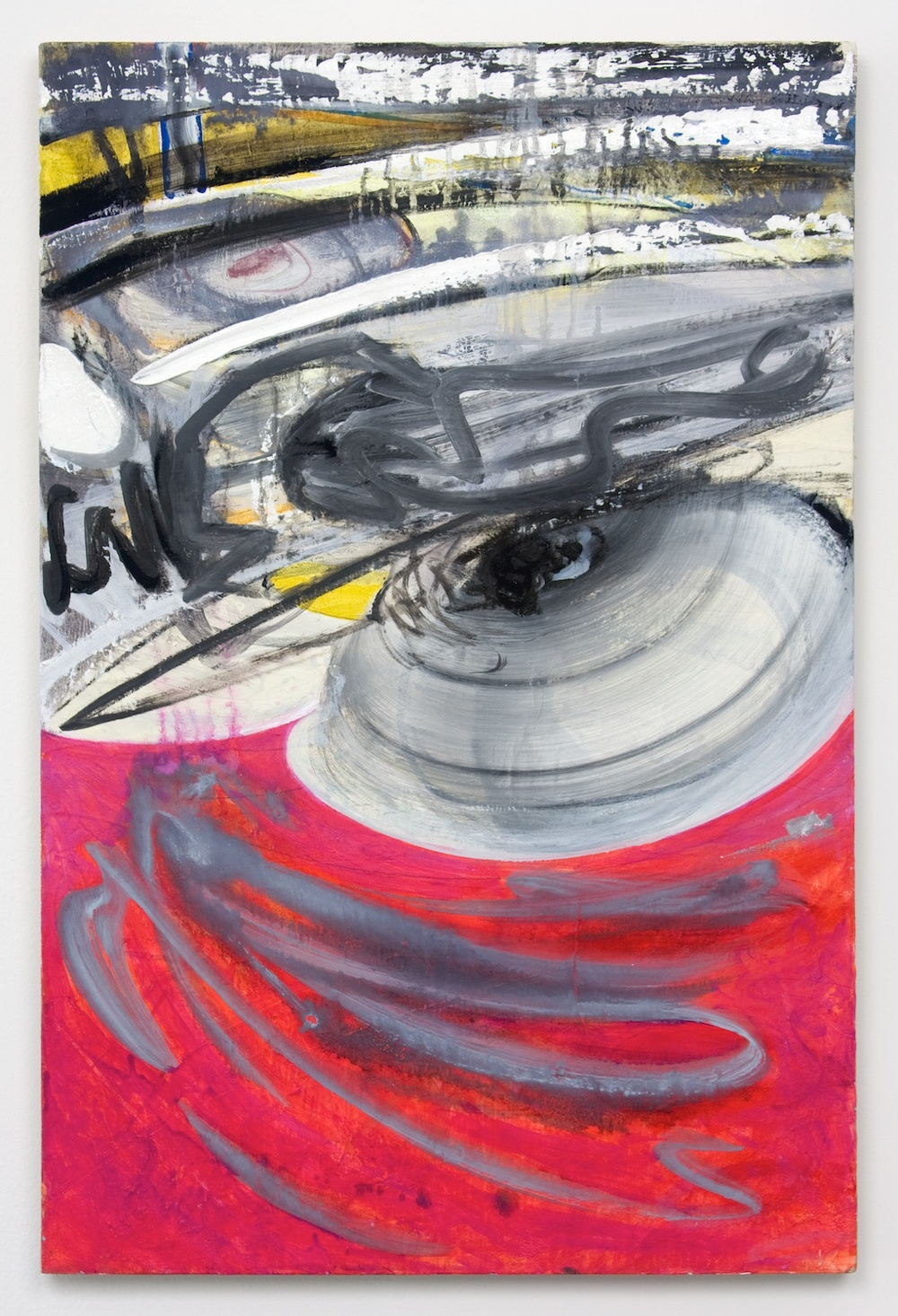 Suzanne McClelland  DRILL  2010 Acrylic and oil on linen 33 ½h x 22 ½w in SM131