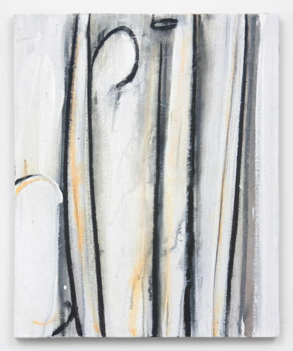 Suzanne McClelland  Drill (an action painting)  2010 Charcoal, pastel, and gesso on linen 20h x 16w in SM152