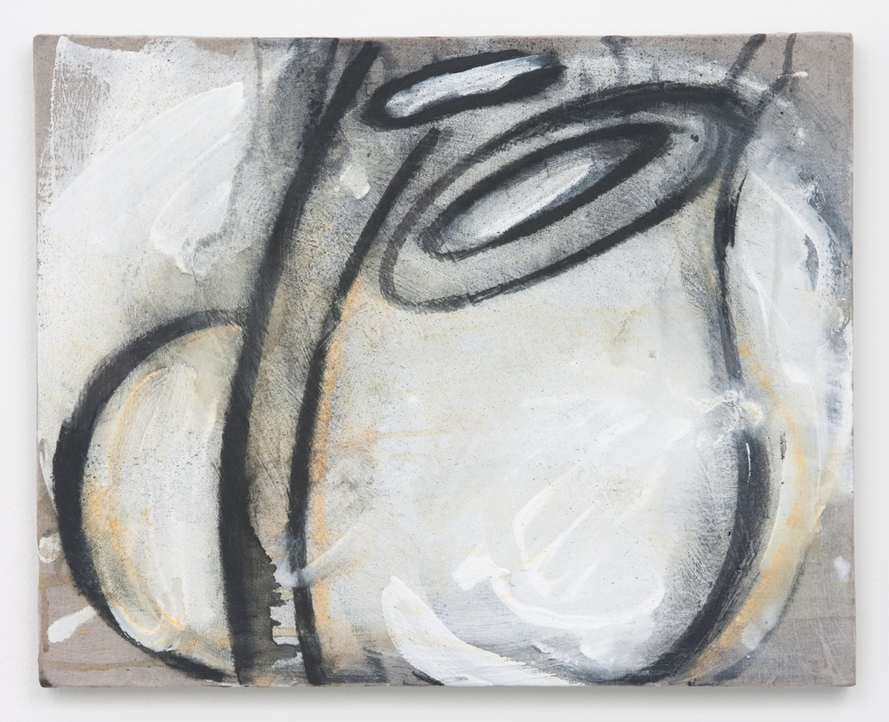Suzanne McClelland  Dig (an action painting)  2010 Charcoal, pastel, and gesso on linen 16h x 20w in SM154
