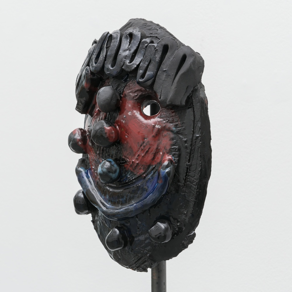 "William J. O'Brien Untitled 2014 Glazed ceramic on steel armature 64 1/2"" x 20"" x 20""  WOB935"