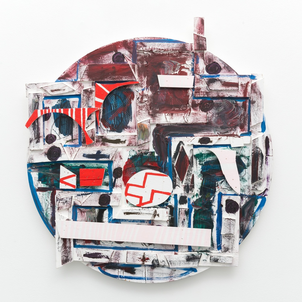 "William J. O'Brien Untitled 2013 Mixed media on wood 35"" x 39"" WOB907"