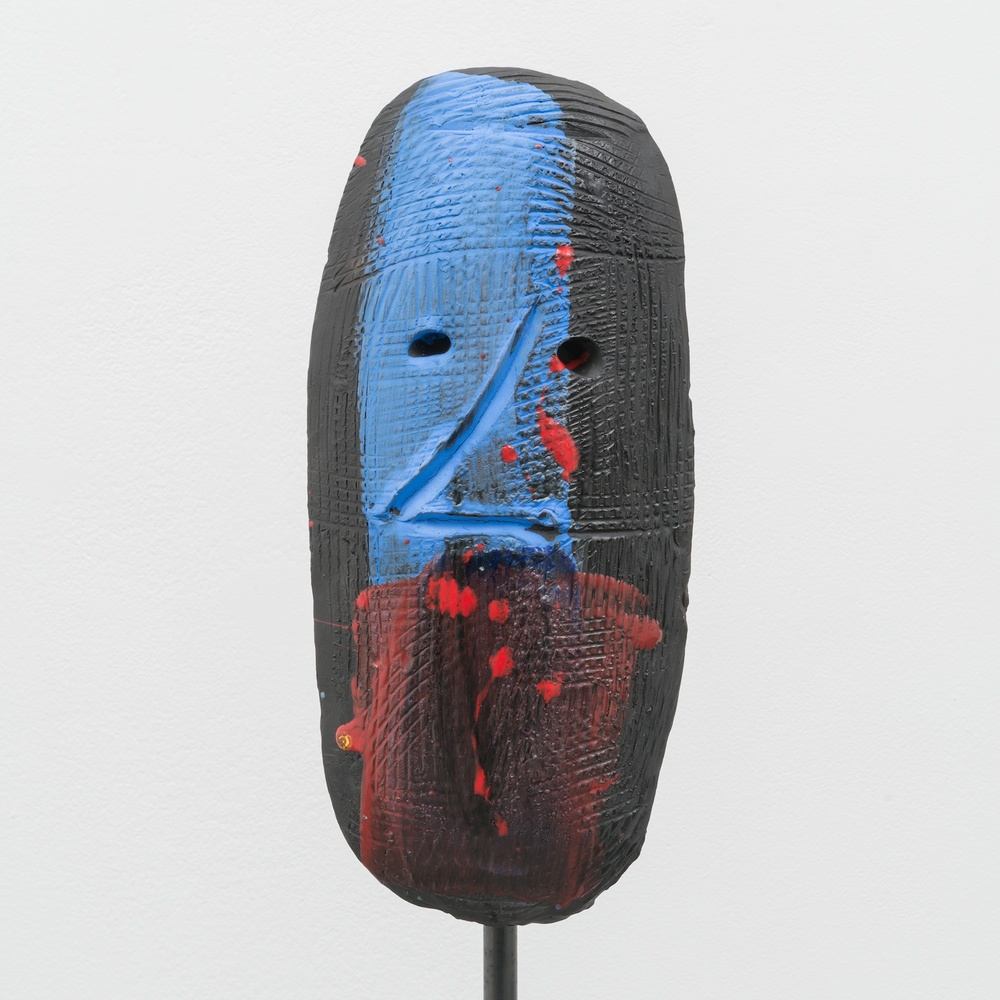 William J. O'Brien  Untitled  2014 Glazed ceramic on steel armature 66 ½h x 20w x 20d in WOB933