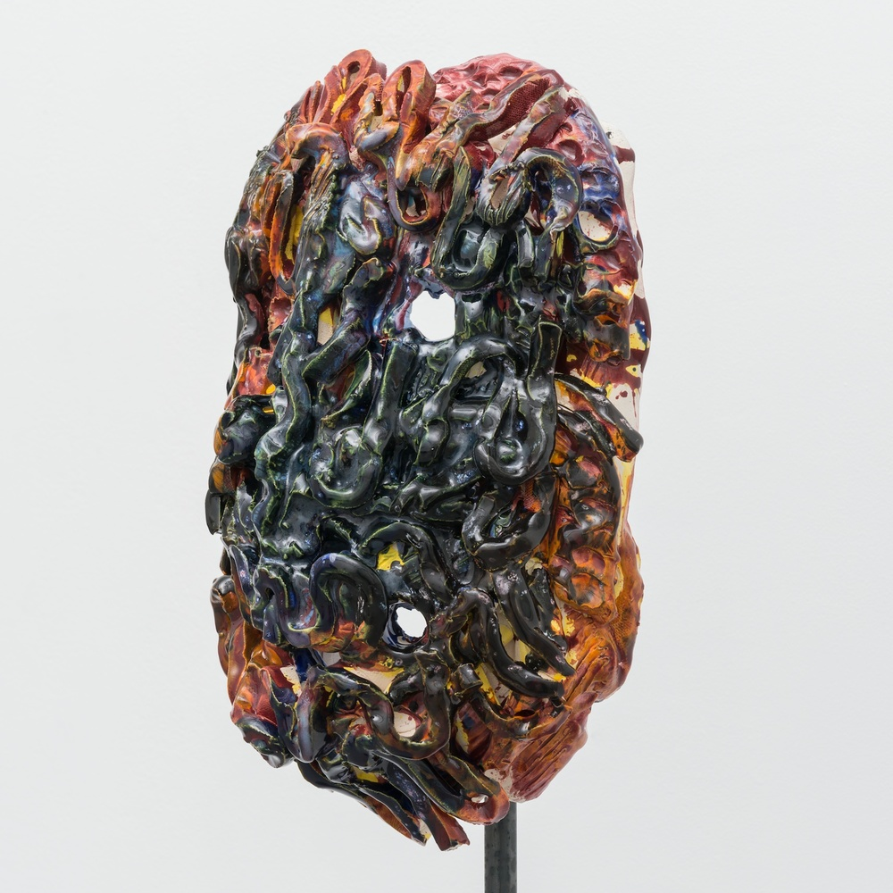 "William J. O'Brien Untitled 2013/2014 Glazed ceramic on steel armature 64 1/2"" x 20"" x 20""  WOB937"