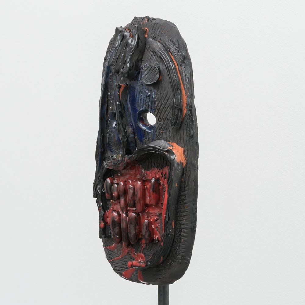 William J. O'Brien  Untitled  2014 Glazed ceramic on steel armature 66 ½h x 20w x 20d in WOB936