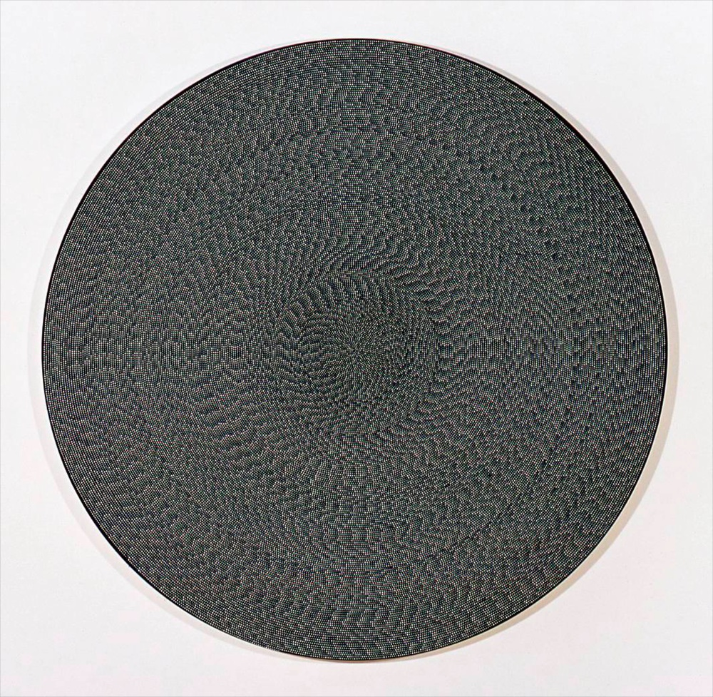 "Michelle Grabner Untitled 2006 Flashe on canvas 70"" diameter MGrab017"