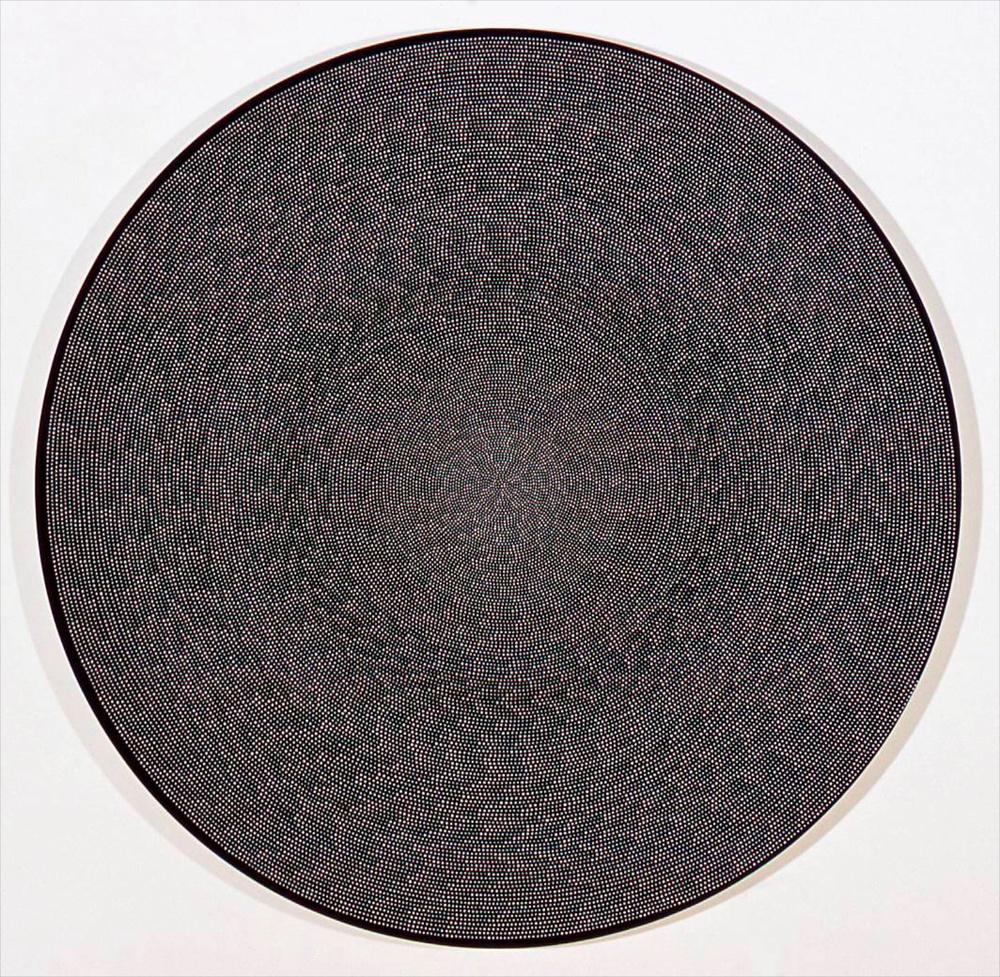 "Michelle Grabner Untitled 2006 Flashe on canvas 50"" diameter MGrab022"