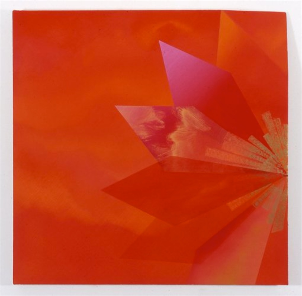 "Kim Fisher Padparadscha, 14 2004 Oil on linen 29"" x 29"""