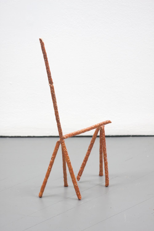 Chris Bradley  Clyde  2011 Painted cast bronze, hot glue 19 ¼h x 3 ½w x 10 ½d in CB010
