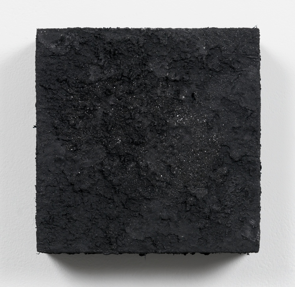 Tony Lewis  Black and Blue  2014 Oil and powdered graphite on canvas 6 ½h x 6 ½w x 1d in TL126