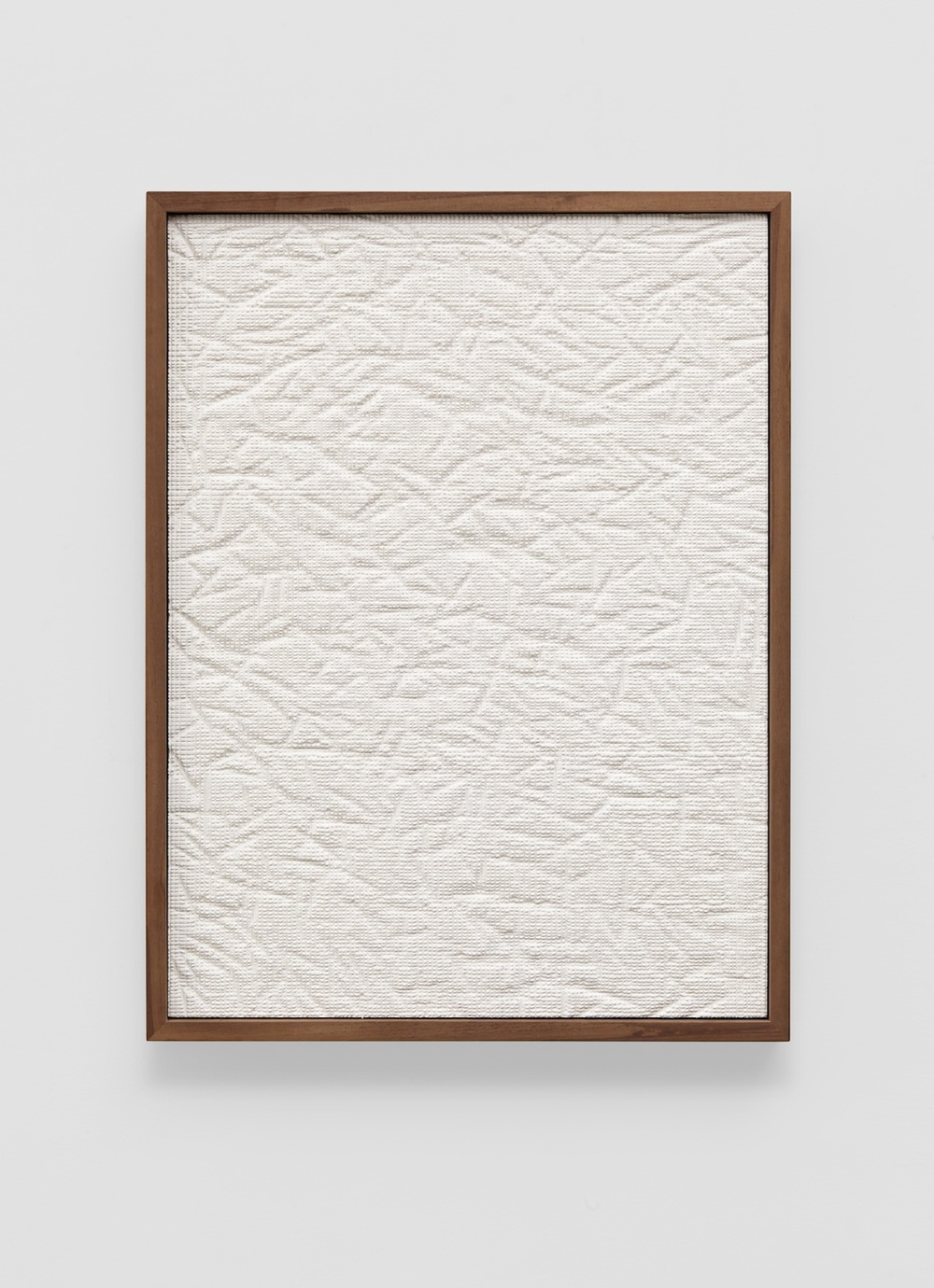 Anthony Pearson  Untitled (Etched Plaster)  2014 Pigmented hydrocal in walnut frame 24 ¼h x 18 ½w x 2 ¼d in AP354
