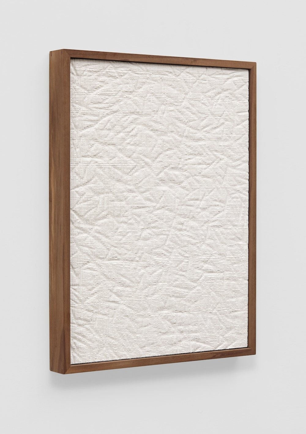 "Anthony Pearson Untitled (Etched Plaster) 2014 Pigmented hydrocal in walnut frame 24 1/4"" x 18 1/2"" x 2 1/4"" AP354"