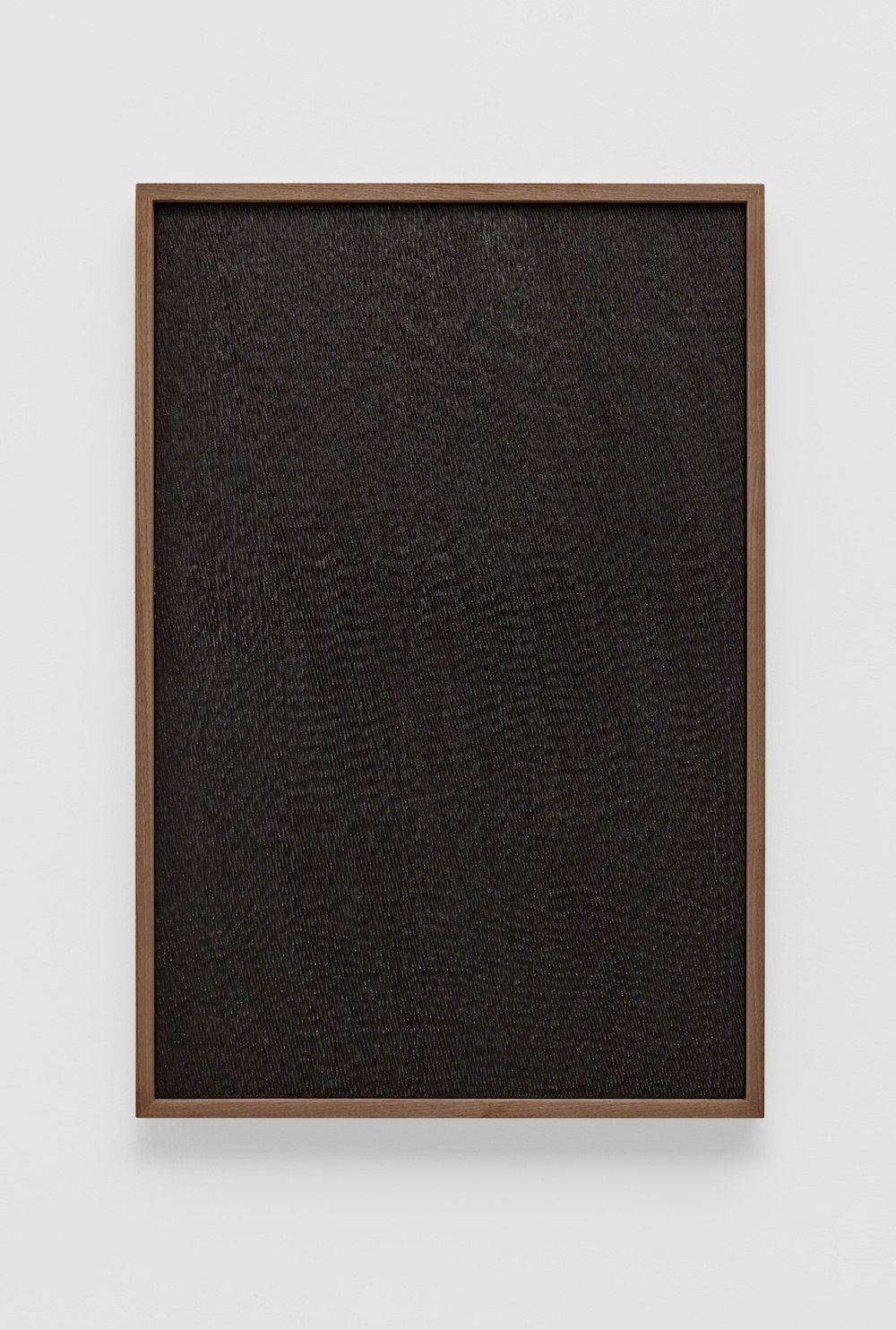 Anthony Pearson  Untitled (Etched Plaster)  2014 Pigmented hydrocal in walnut frame 30 ½h x 20 ½w x 2 ¼d in AP356
