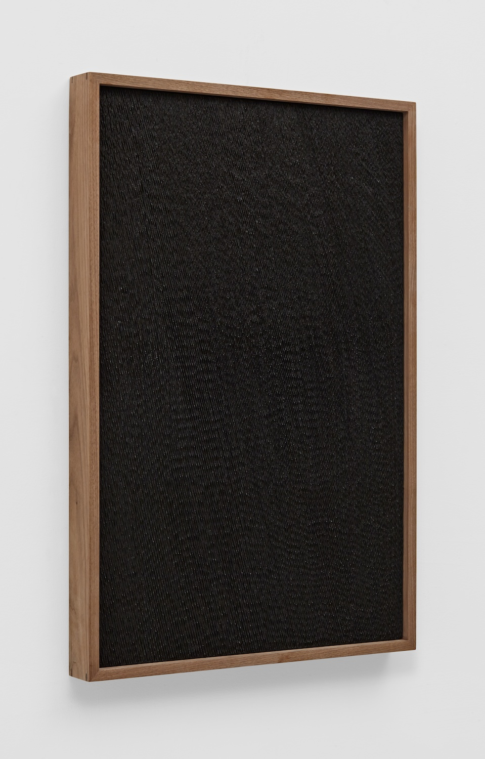 "Anthony Pearson Untitled (Etched Plaster) 2014 Pigmented hydrocal in walnut frame 30 1/2"" x 20 1/2"" x 2 1/4"" AP356"