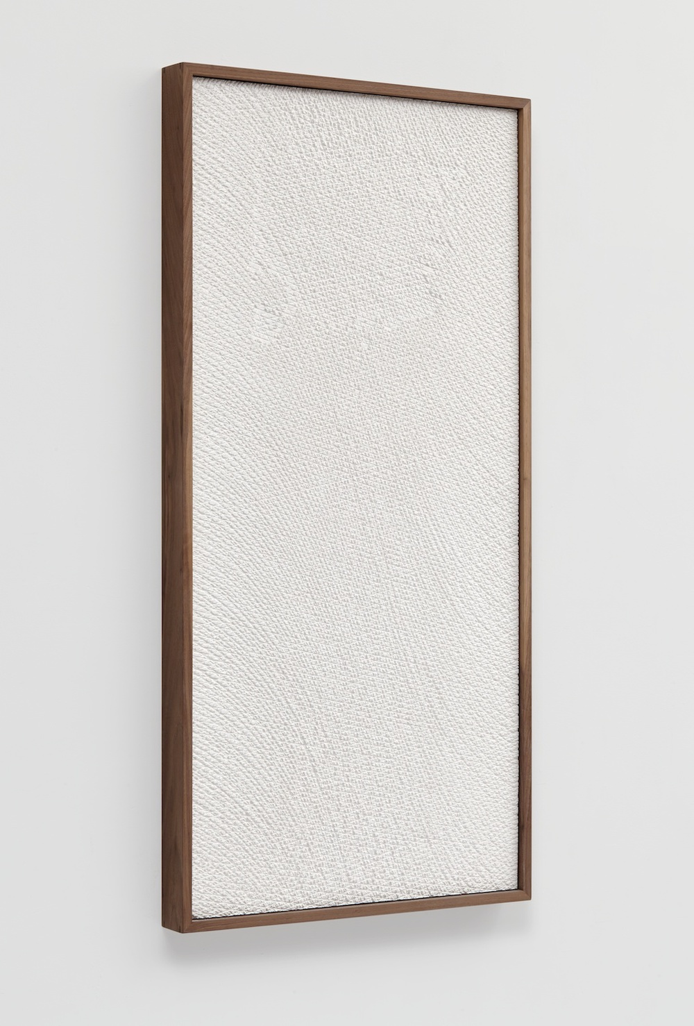 "Anthony Pearson Untitled (Etched Plaster) 2014 Pigmented hydrocal in walnut frame 48 1/2"" x 24 1/2"" x 2 1/2"" AP358"