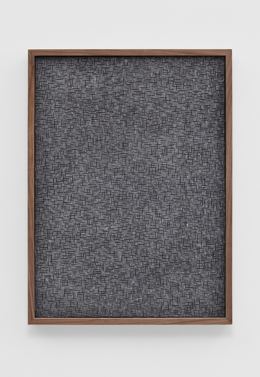 "Anthony Pearson Untitled (Etched Plaster) 2014 Pigmented hydrocal in walnut frame 24 1/2"" x 18 1/2"" x 2 1/4"" AP359"