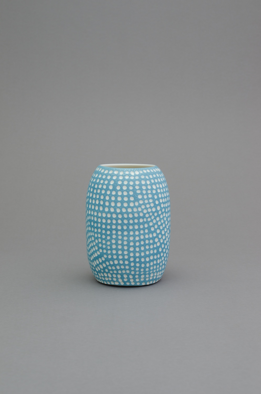Shio Kusaka  (dot 57)  2014 Porcelain 8h x 5 ¾w in x 5 ¾d in SK423
