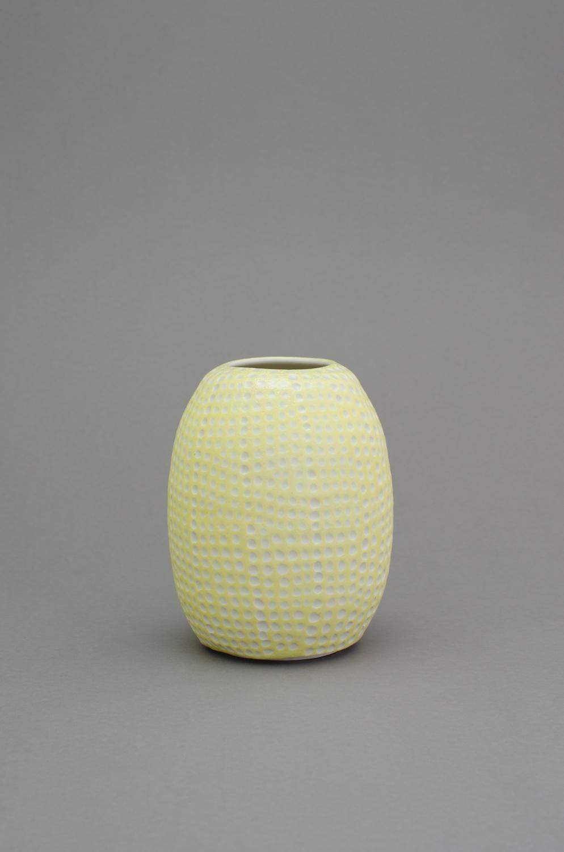 "Shio Kusaka (dot 59) 2014 Porcelain 8 3/4"" x 6 3/4"" x 6 3/4"" SK425"