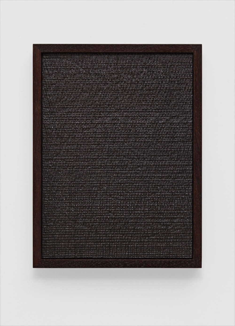 Anthony Pearson Untitled (Etched Plaster) 2014 Medium coated pigmented hydrocal in tung oiled wenge frame AP345
