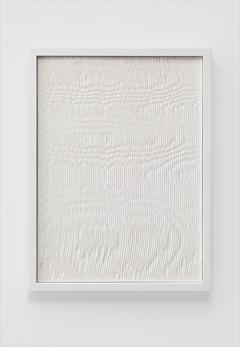 "Anthony Pearson Untitled (Etched Plaster) 2014 Hydrocal in lacquer coated maple frame 16 1/4"" x 12 1/4"" x 2"" AP347"
