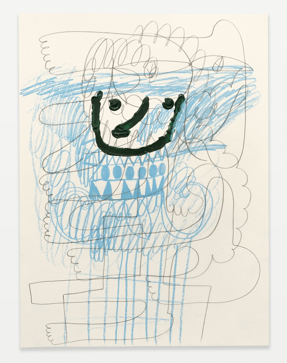 William J. O'Brien  Untitled  2014 Acrylic, colored pencil, and graphite on paper 24h x 18w in WOB963
