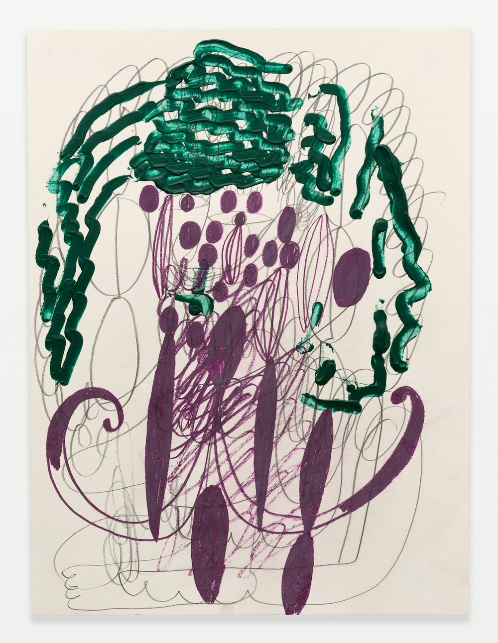 William J. O'Brien  Untitled  2014 Acrylic, colored pencil, and graphite on paper 24h x 18w in WOB964