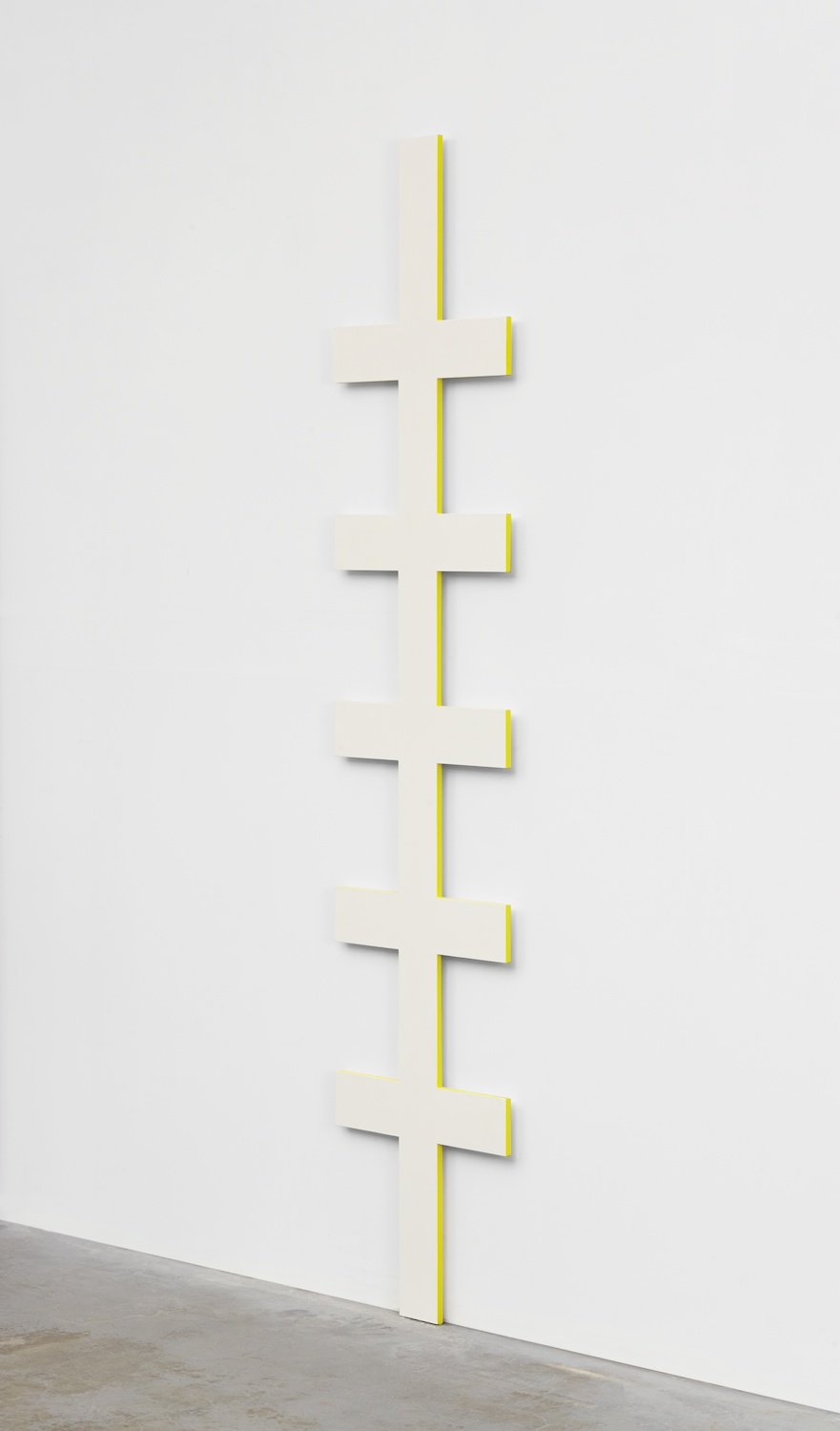 "Lisa Williamson Ladder 2014 Acrylic on aluminum 84"" x 18"" x 1"" LW142"