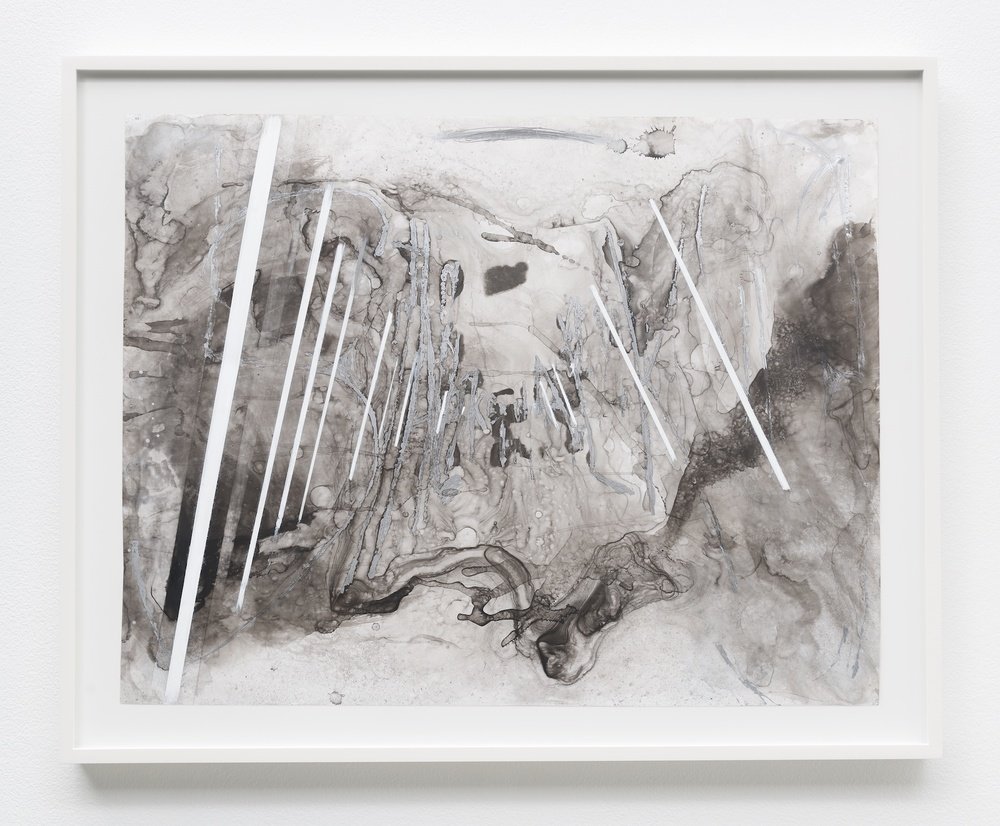 "Suzanne McClelland Shake It 2014 Ink, graphite, charcoal, paint on YUPO 28 1/4"" x 34"" SM228"