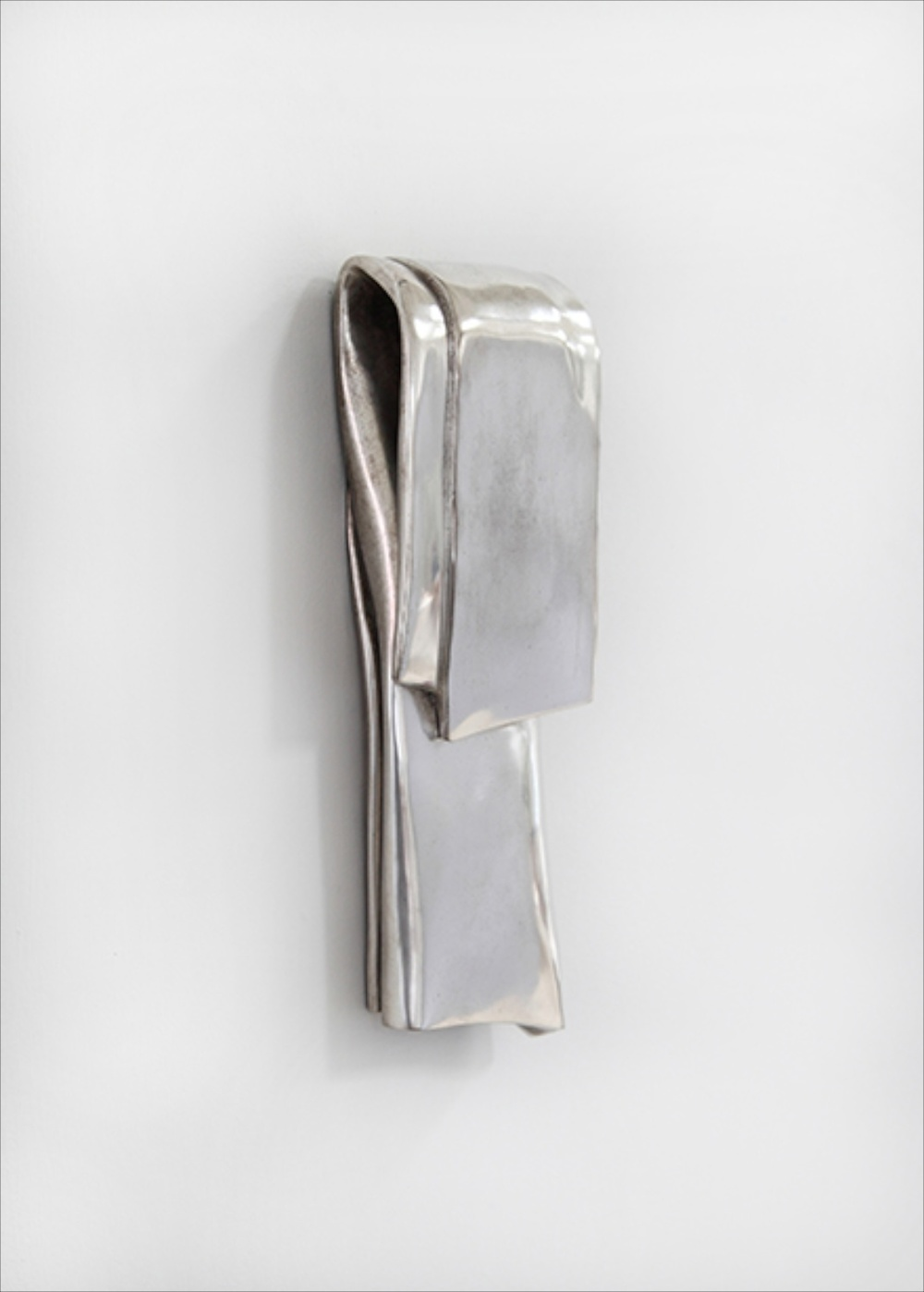"Anthony Pearson Untitled (Tablet) 2014 Bronze relief with silver nitrate patina 10"" x 4"" x 2"" AP348"