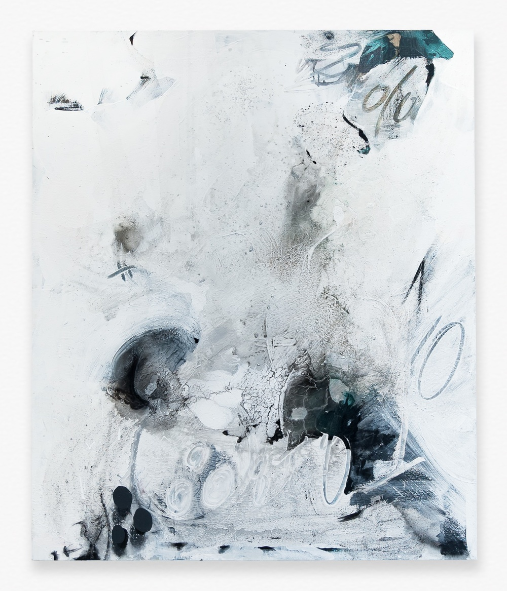 "Suzanne McClelland Double Solutions 8+8=10 2014 Polymer and dry pigment on linen 59"" x 49"" SM266"