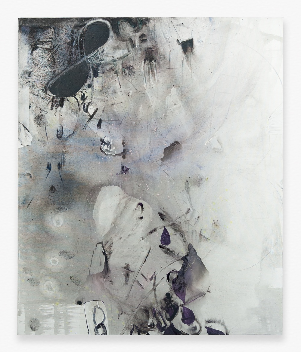 "Suzanne McClelland Double Solutions 4+4=15 2014 Polymer and dry pigment on linen 59"" x 49"" SM267"