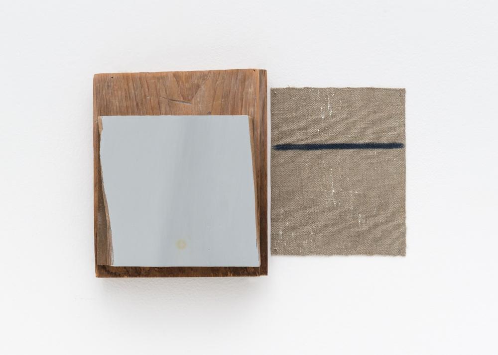 Bill Walton  Red Floow/White Floor (White Floor Room #2)  n.d. Wood, linen, oil paint 6 ½h x 10w x 1 ¾d in BW004